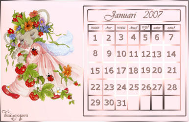 Maandkalender - Calendar